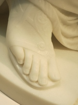 Zenobia's foot.
